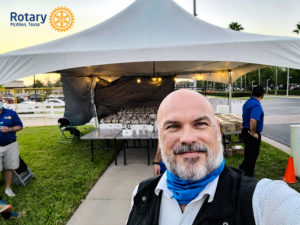 Volunteering at the McAllen Rotary Club